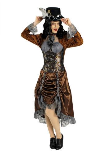 Steampunk Jules Verne Eliza Uomo Donna Costume Vittoriano epoca nuovo