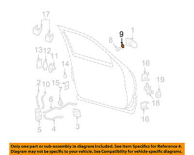 GM OEM Front Door-Lock Cylinder Gasket 4587931