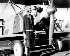 Amelia-Earhart-Photo-8X10-Posing-By-Plane-1928-Buy-Any-2-Get-1-Free