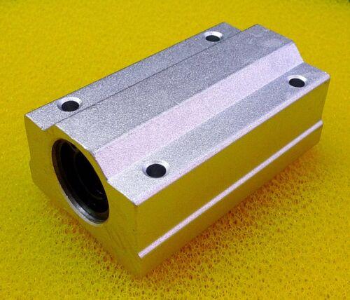 20mm Metal Linear Ball Bearing Pellow Block Unit FOR CNC SC20LUU 2PCS SCS20LUU