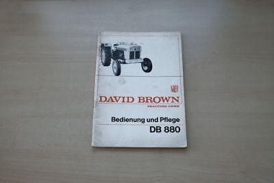 193147) David Brown Db 880 Schlepper Handbuch 197?