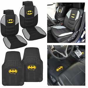 Brilliant Details About Batman Padded Car Seat Covers Front All Weather Black Floor Mats 4 Pc Dailytribune Chair Design For Home Dailytribuneorg