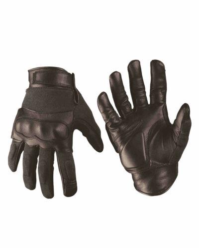 Mil-Tec TACTICAL GLOVES LEDER//ARAMID SCHWARZ Fingerhandschuh Handschuh