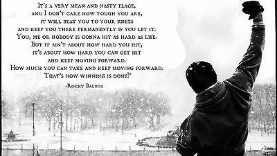Rocky Balboa Motivational Quotes Art Silk Wall Poster 24 X13 005 Ebay