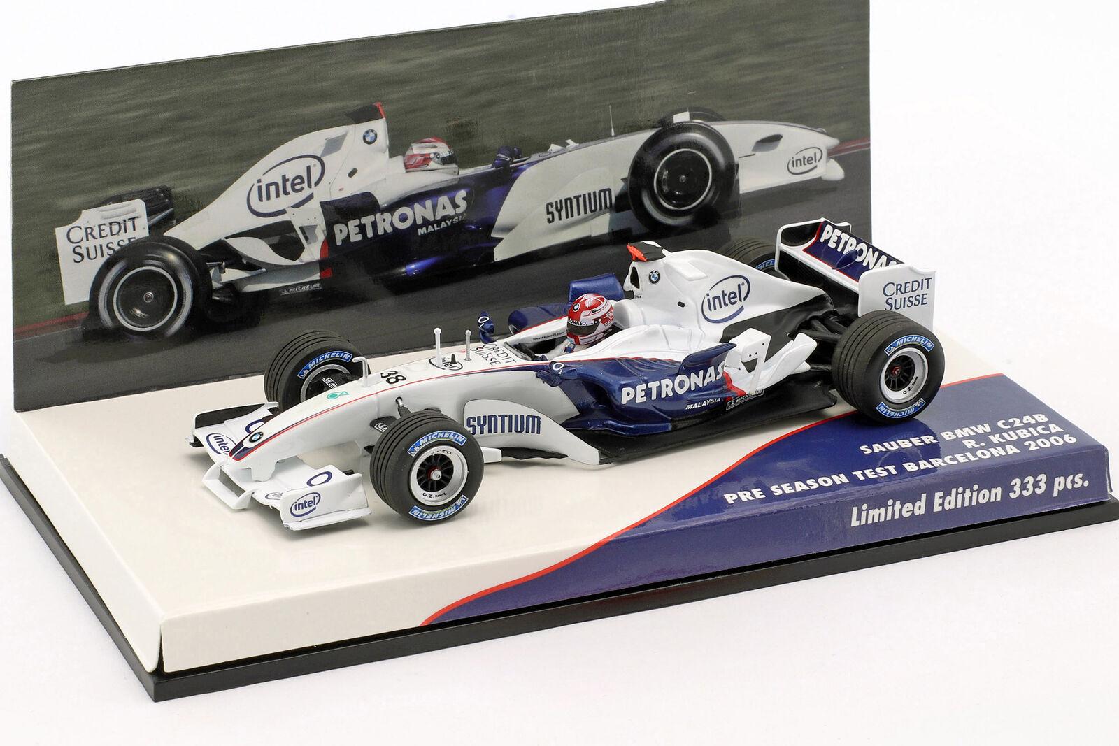 R. Kubica BMW Propre C24B #38 Formule 1 Test Barcelone 2006 1:43 Minichamps   Sale Online    Porter-résistance