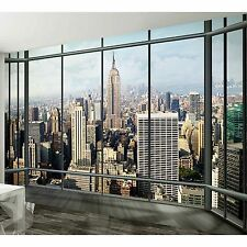 315x232cm Giant wall mural photo wallpaper New York City Penthouse Window view