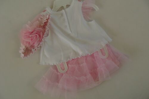 Starting Out Boutique Baby Girls Ballernia Size 3 M TuTu Outfit NWT W Headband