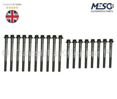 Lot de 18 Culasse Boulons FORD MONDEO MkIII 2000-2007 2.0 2.2 Diesel