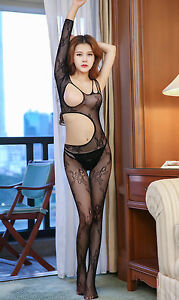 Image Is Loading Bodysuit Women Sheath Sexy Lingerie Sexy Catsuit Stocking