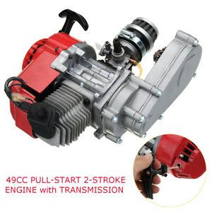 2-Stroke-49cc-Engine-Pull-Start-Transmission-For-Mini-Moto-Pocket-Quad-Dirt-Bike
