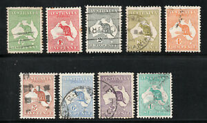 Australia - SG# 1 - 5 + 6 - 10 Used/ wmk 2 Wide Crown    -     Lot 0720163