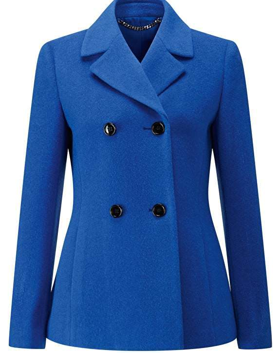 Pure Collection Wool Peacoat - Vivid Sapphire - UK Größe 10