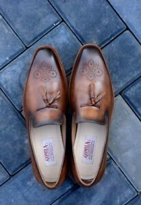 Men-039-s-Handmade-Brogues-Tasseled-Loafers-Casual-Formal-Party-Calf-Leather-Shoes