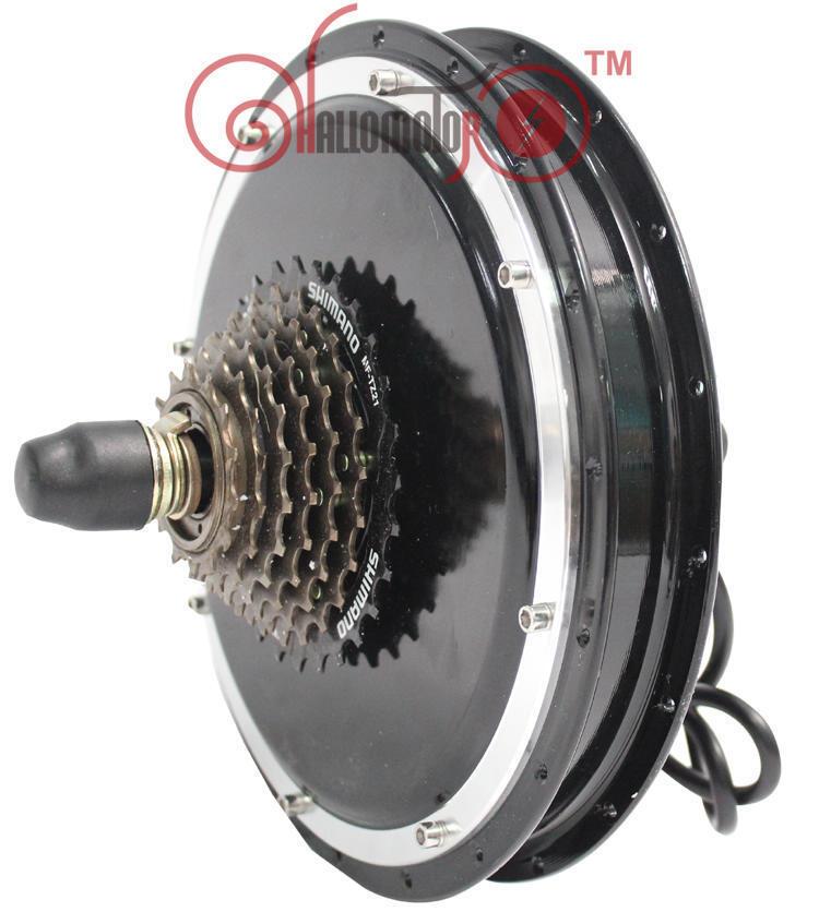 48V 1500W Brushless Gearless Threaded Rear fat wheel Hub Motor Electric Bike