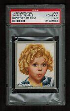 PSA 4.5 SHIRLEY TEMPLE 1939 Monopol Cigarette Card #96 Beautiful