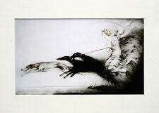 """Louis Icart Mounted Print - Vitesse  LC1 - Erotic Art  SIZE  14"""" X 10"""""""