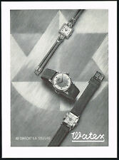 1950s Vintage 1951 Watex Watch Co. Wrist Watches Mid Century Modern Art Print AD