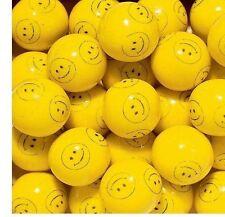 """SMILEY FACE Bulk Vending 1"""" 24mm Gum Ball 3 Pounds Approx 165 Gumballs"""