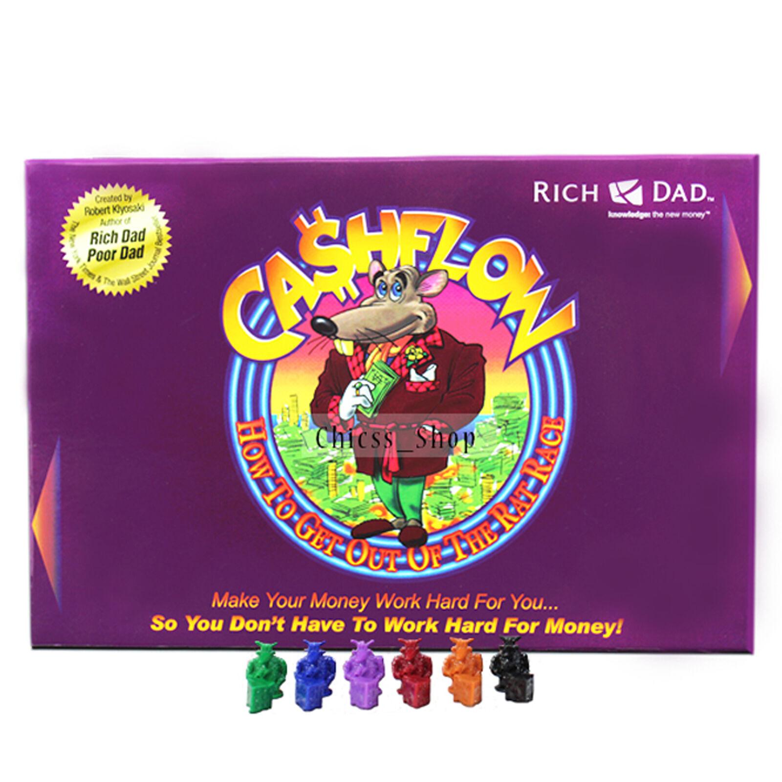 Nouveau cashflow 101 Rich Dad Robert Kiyosaki jeu de plateau mettant eau + livraison gratuite au Royaume-Uni