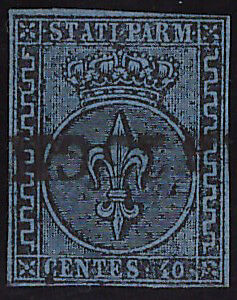 PARMA-1852-40-Cent-n-5-USATO-SPL-900