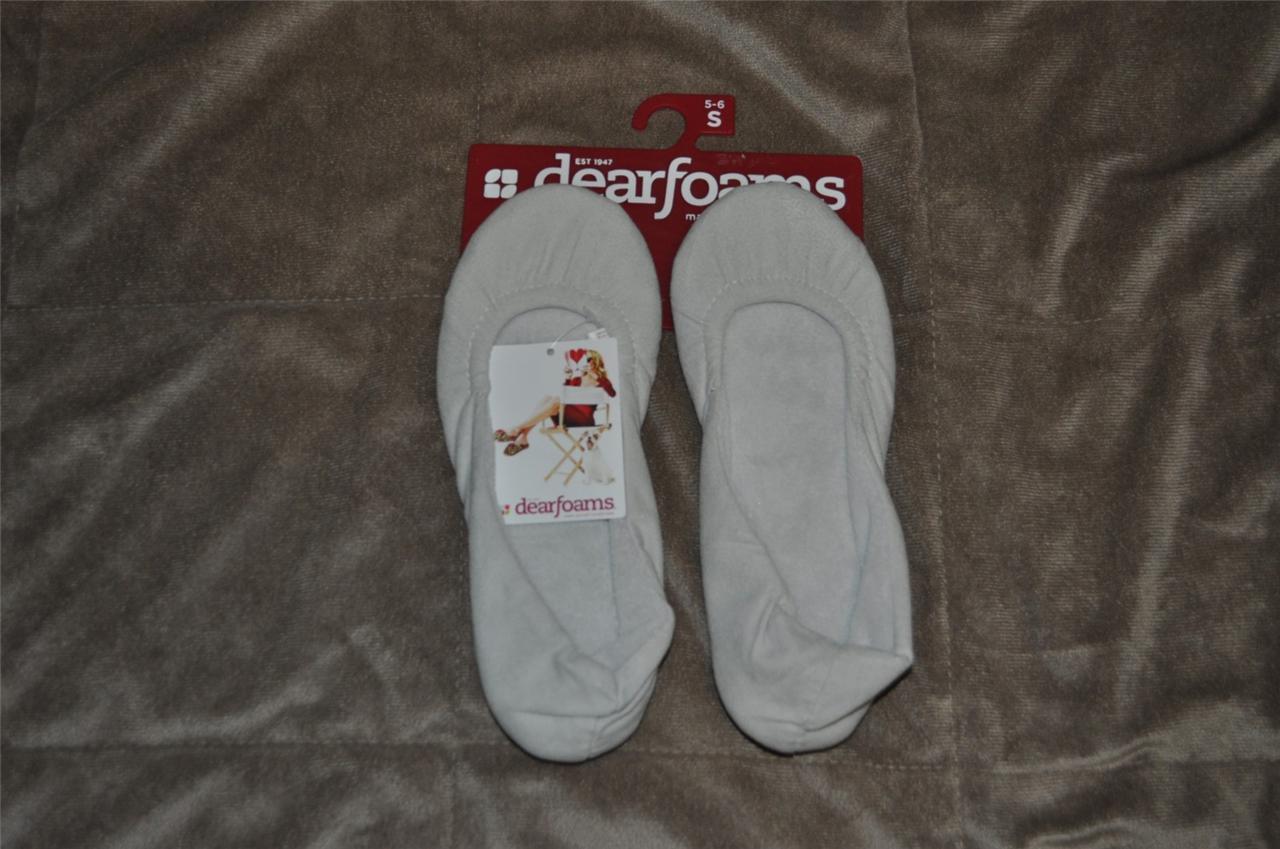 Dearfoam Spandex Ballerina Slippers Gray Frost Size Small 5-6 NWT FAST HANDLING