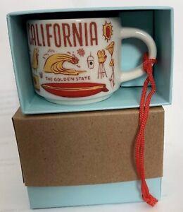 Starbucks California Been There Series 2oz Ornament Mini Mug Cup Espresso New