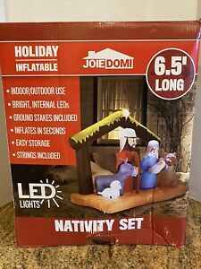 NEW Inflatable Nativity Holy Family Scene 7 ft Wide Christmas Yard Decor Outdoor