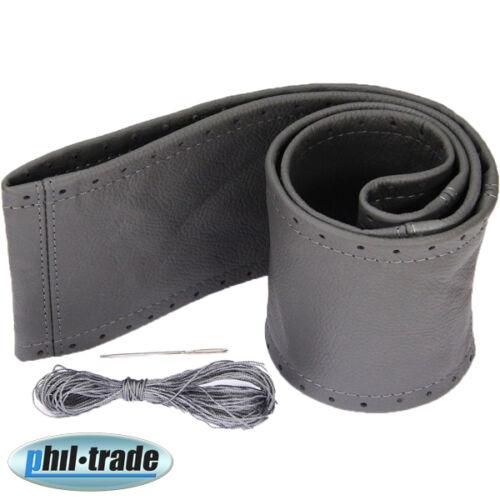Lenkradbezug dunkel grau echt Leder Schnüren Lenkrad Schoner 40 41 cm 304