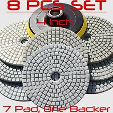 Diamond Polishing Pads 4 Inch Wetdry 8 Piece Set Granite Stone Concrete Marble