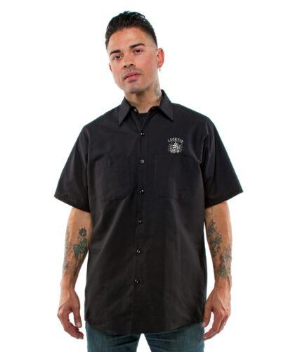Lucky Punk Con Bottoni Glory Lavoro Death Camicia 13 Tattoo Skull Di Gothic Or 08wZqr0