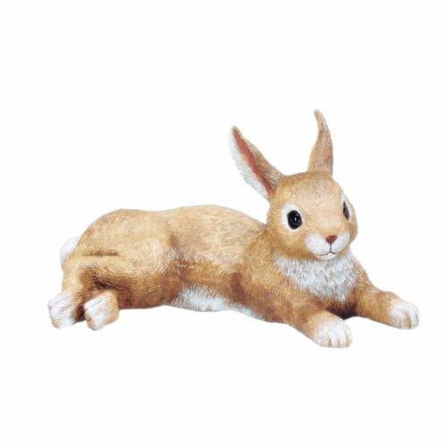Bunny Garden Statue Laying Rabbit Outdoor Lawn Decor