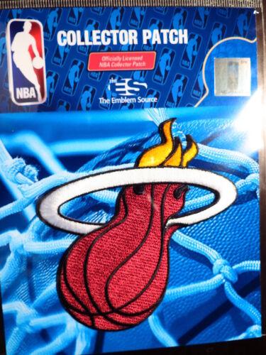 Sous Licence Officielle NBA Heat de Miami Alternate Logo Fer ou Coudre sur Patch