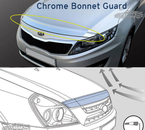 Chrome Front Bonnet Hood Guard Garnish Deflector K-863 for KIA Sorento 2016~2019