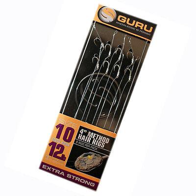 "Guru 15/"" Bayonet Hair Rigs Size 12 Free P/&P"