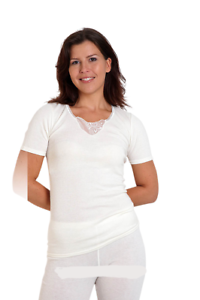 Angora Woman Thermal Top with lace 30/% Angora share