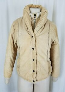 f6c04278e Dawn Imports Shawl Collar Corduroy Puffer Bomber Zip Up Snap Jacket ...
