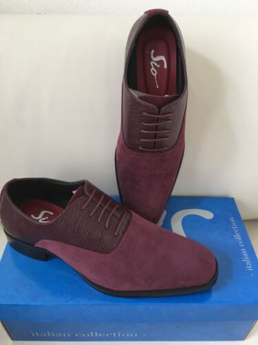 Bolano Homme Daim Cuir Chaussures Lacets Mariage Bal Costume Style Italien Chaussure