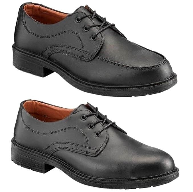 PSF Mens Executive Leather Manager Smart Work PPE Safety Steel Toe Cap shoes Sz