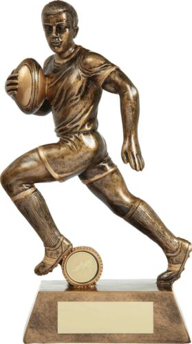 Rugby Trophies Resin Detailed Gold Rugby Figure 5 Sizes Available FREE Engraving