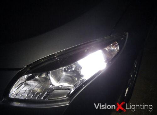 Pair Bulbs DRL LED P21W Bright White 6000K Canbus Renault Megane MK3 2008-2013