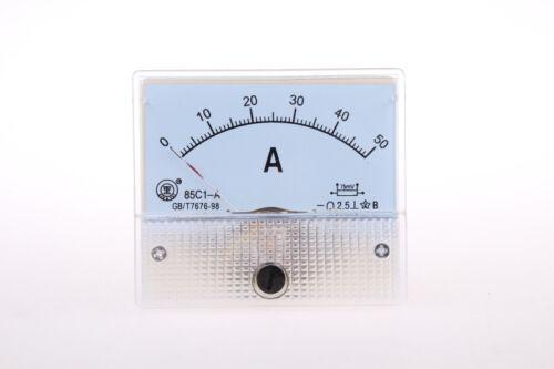 1Pcs 85C1 DC 1-50 A Classe 2.5 Precision Panneau Monté Analogique Ampèremètre Compteur Neuf