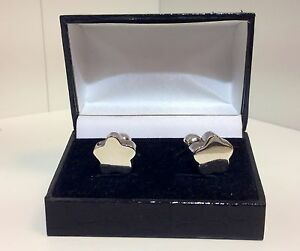 Cufflinks-Gift-for-Him-Solid-Silver-Flower-Unique-Shape-Great-Present-Idea