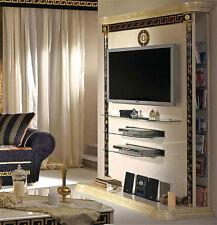 Exklusiver LCD TV-Schrank Plasma Klassische Italienische Stilmöbel Beige Gold