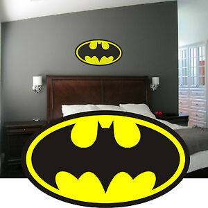 Batman Logo Wall Art Sticker Decal Graphic Mural Boys Bedroom ...