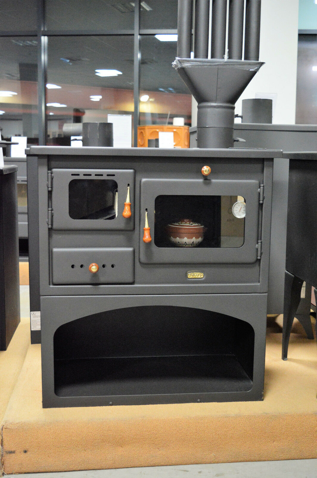 holz verbrennung gusseisen top feste brennstoffe kochen herd kamin mit 10 kw ebay. Black Bedroom Furniture Sets. Home Design Ideas