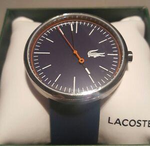 brand new lacoste men 039 s blue rubber orbital watch 2010863 image is loading brand new lacoste men 039 s blue rubber