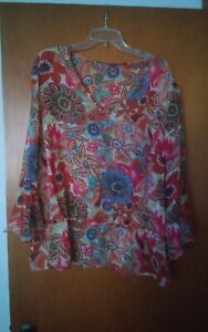 015-Womens-Funky-Floral-Blouse-Top-Long-Sleeve-Light-Weight-Sheer