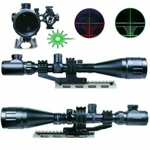 6-24X50-AOEG-Hunting-Rifle-Scope-with-Green-Laser-Sight-amp-PEPR-Rail-Mount