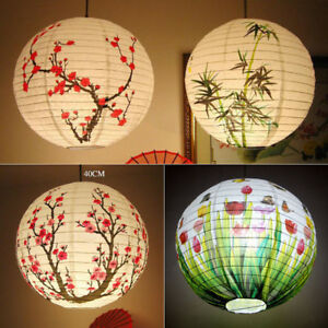 303540cm chinese lamp shade paper lantern bamboo plum wedding image is loading 30 35 40cm chinese lamp shade paper lantern mozeypictures Images