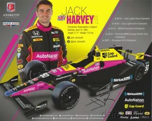 Image Is Loading 2017 Jack Harvey Signed Auto Nation Honda Dallara